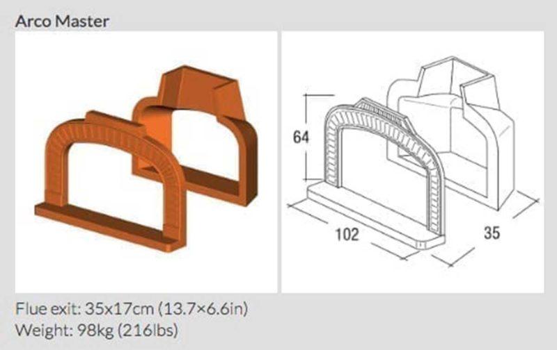 Arc pour le four réfractaire réfractaire à bois Master Vision   Accesoires Polyflam