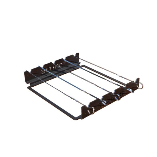 Grille Satay en inox. pour barbecue bois Medium | Polyflam