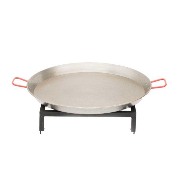 Paella Set et poêle 60 cm pour barbecue bois Medium | Polyflam