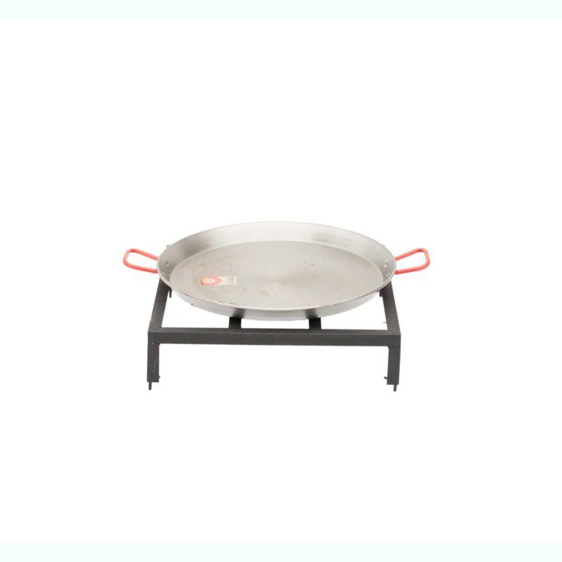 Paella Set et poêle 60 cm pour barbecue bois Mini | Polyflam