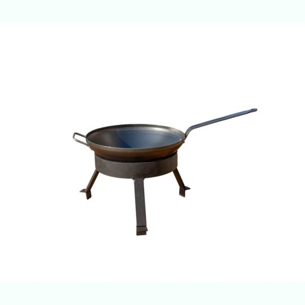 Wok Set pour barbecue bois Mini | Polyflam