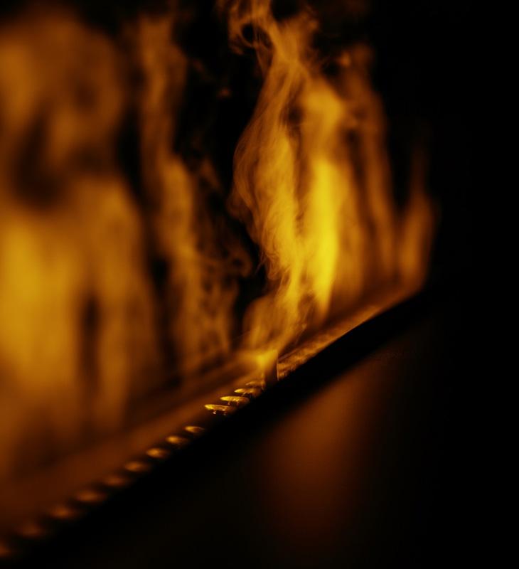 Flamme de vapeur d'eau