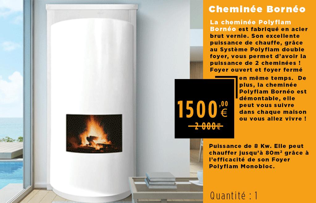 Déstockage cheminée métallique borneo