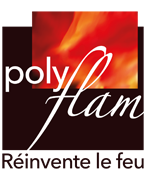 Logo Polyflam | Cheminées bois, poêles et foyers bois sur mesure